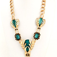Scarab Pendant Necklace - Teal