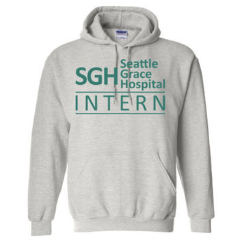 Grey's Anatomy SGH Seattle Grace Hospital Intern - Heavy Blend™ Hooded Sweatshirt