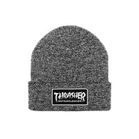 HUF - HUF X THRASHER MIXED YARN BEANIE // BLACK / WHITE