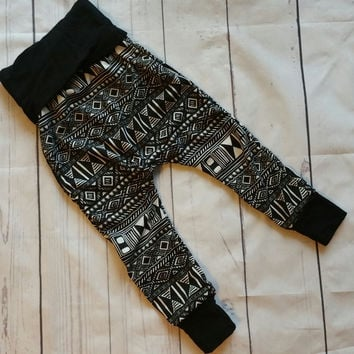 Unisex Print Tribal Harem Pants - Multiple Options