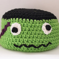 Kids Frankenstein Beanie Halloween Child Crochet Hat
