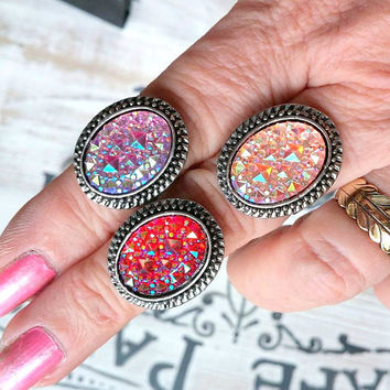 Sparkles Statement Ring, Adjustable Ring,Boho Jewelry, Gift for Her