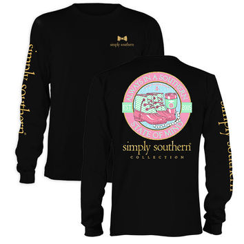 Simply Southern Preppy State Of Mind Long Sleeve T-Shirt