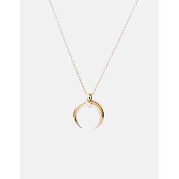 MOON CRESCENT HORN NECKLACE