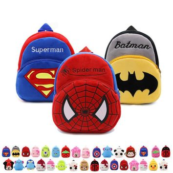 Cartoon Kids Plush Backpacks Baby Toy Schoolbag Student Kindergarten Backpack Cute Children School Bags For Girls Boys mochila