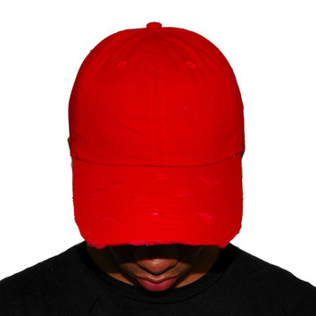 Vintage Culture Red Distressed Dad Cap
