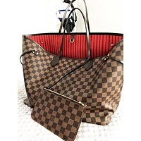 Louis Vuitton LV Fashion Leather Shopping Leisure Handbag Shoulder Bag Two Piece Suit Women