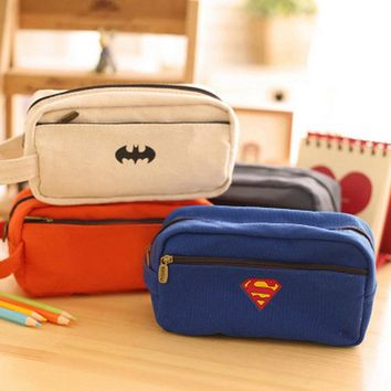 1pc Supper Men Pencil Case League of legends Pencil Box Kids Toys Student Gift Storage Bag School Office Stationery Suplies