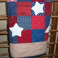 Star Quilt - Wall Hanging - Table Topper - Doll Quilt- under 50