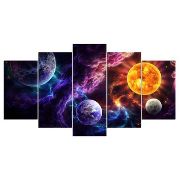 Plan of Salvation by JoJoesArt 5 Panel canvas art planets universe Panel Wall Art Picture