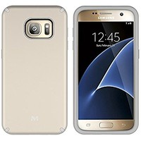 S7 Case, Galaxy S7 Case, MagicSky Slim Corner Protection Shock Absorption Hybrid Dual Layer Armor Defender Protective Case Cover for Samsung Galaxy S7 (Gold)