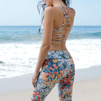 Jala Clothing - SUP Yoga Capri | Fresh Bouquet