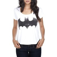DC Comics Distressed Batman Logo Crop Top Plus Size