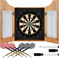TG  Beveled Wood Dart Cabinet - Pro Style Board and Darts