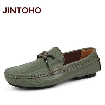 men genuine leather loafers casual slip on mens moccasins luxury men flats fashion male shoes