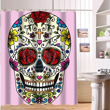 Cool Pirate Skull Vintage Shower Curtain
