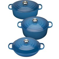 Le Creuset Cast Iron Cookware Range; Marseille Blue - House of Fraser