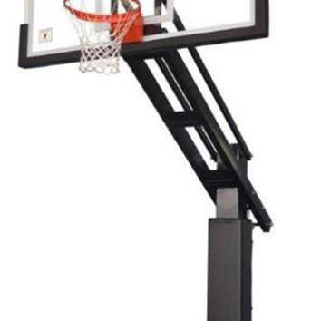 Ironclad Sports Triple Threat XXL Pro In Ground Outdoor Adjustable Basketball Hoop 72 inch Tempered Glass