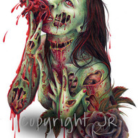 Zombie Print by wengergirl on Etsy