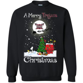 Cover your body with amazing Troy Trojans Snoopy Ugly Sweaters Merry Christmas