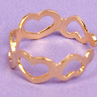 Heart Cutout Knuckle Ring $7