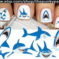 Buy 2 Get 1 Free-180 Decals Total-60 Nail Decals Per Set - SHARK CUTIES - Nail Art