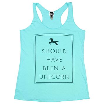 Lost Gods Should Have Been a Unicorn Womens Graphic Racerback Tank