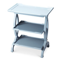 Kimiko Transitional Rectangular Side Table Blue