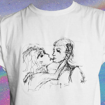 Kiss Line Art T-Shirt Unisex Tee