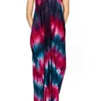 Love Stitch Mila Tie Dye Maxi Dress IMP7965MUQ
