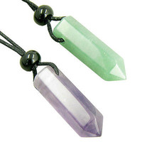 Necklaces Double Lucky Safe Travel and Money Talisman Crystals