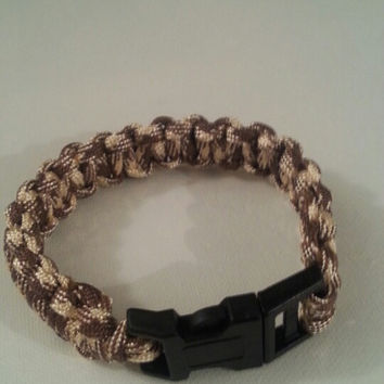 Beach camo paracord parachute cord 550/325 bracelet with survival buckle or regular buckle
