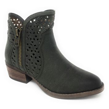 Not Rated Etta Green Cut-Out Ankle Booties