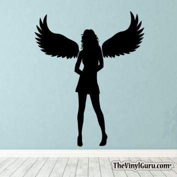 Sexy Angel Pin-Up Girl Wall Decal XII