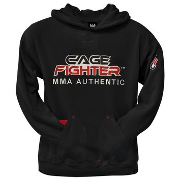 Cage Fighter - Logo 3 Pocket Hooded Sweatshirt - Large