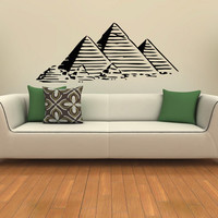 Egyptian Pyramids Housewares Wall Vinyl Decal Art Design Murals Interior Modern Decor Sticker SV3798