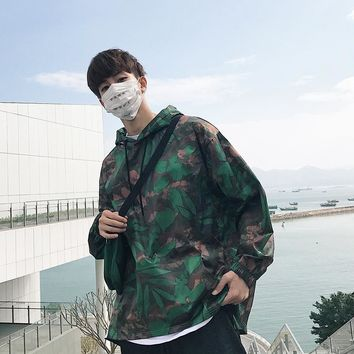 Japanese Fashion Trend Campus Wind Boys Wild Casual Loose-selling Cotton Camouflage Jacket