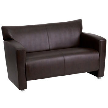 HERCULES Majesty Series Brown Leather Love Seat