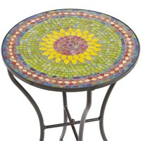 Sunflower Mosaic Accent Table