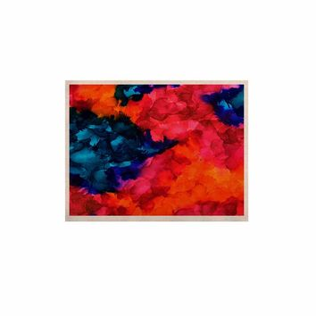 """Claire Day """"Jaded"""" Magenta Teal Abstract Painting KESS Naturals Canvas (Frame not Included)"""