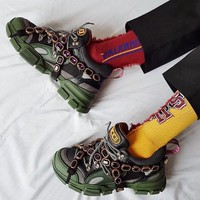 GUCCI Flashtrek sneaker with removable crystals-1