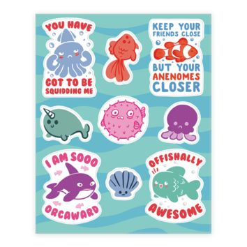 FISH PUNS STICKER
