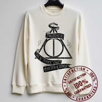Deathly Hallows Shirt Harry Potter Sweatshirt Sweater Hoodie Shirt – Size XS S M L XL