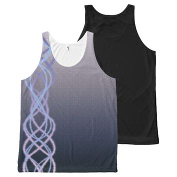 Dark Purple Lights All-Over Print Tank Top