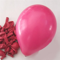 Latex Solid Balloons, 12-inch, 12-Piece, Fuchsia