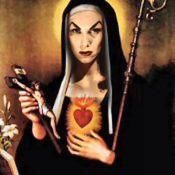 Saint Vampira Prayer Candle. Horror Psychobilly Kitsch