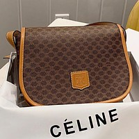 CELINE New fashion pattern print leather shopping leisure shoulder bag crossbody bag