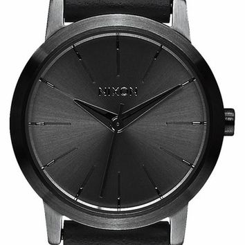 Nixon 'The Kenzi' Round Leather Strap Watch, 26mm | Nordstrom