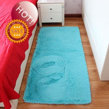 Free Blue Rectangle Carpet Rug Bath Mat Shaggy Rug Absorbent Non-Slip Prayer Mats Tapetes Para Quato Nice Alfombras