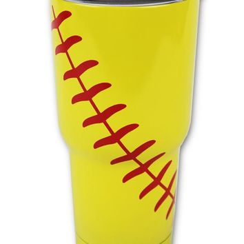 Softball Tumbler 30 OZ or 20 OZ Stainless Steel Hot Cold Tumblers Gifts